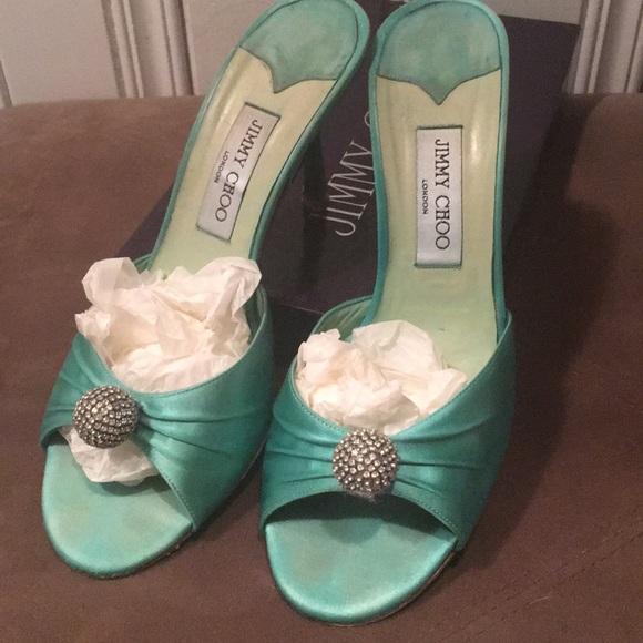 1505048ba Jimmy Choo Shoes - Jimmy Choo custom Tiffany Blue bride wedding shoes